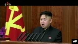 北韓領導人金正恩罕有地發表元旦講話