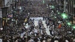 دهها هزار نفر در منطقه باسک اسپانيا تظاهرات کردند
