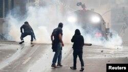 Демонстранты в Эквадоре