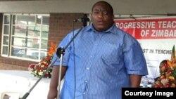 "Progressive Teachers Union of Zimbabwe secretary general Raymond Majongwe (Photo"" PTUZ)"