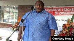 "Progressive Teachers Union of Zimbabwe secretary general Raymond Majongwe. (Photo"" PTUZ)"