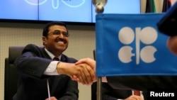 Mohammed Bin Saleh Al-Sada, ministre de l'Énergie et de l'Industrie du Qatar, Vienne, le 2 juin 2016