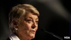 Geraldine Ferraro ansyèn kandidat pou pòs vis-prezidant Etazini an 1984.