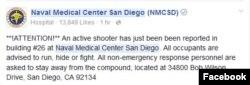 NMCSD Facebook post
