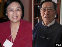 高瑜(左)和鲍彤(右)