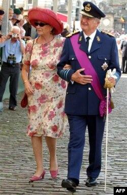 Belgiya qiroli Albert II rafiqasi, malika Paola bilan