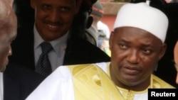 Le Président de la Gambie, Adama Barrow, 18 février 2017.