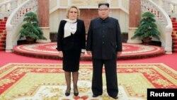 Bà Valentina Matvienko gặp ông Kim Jong Un ở Bình Nhưỡng.