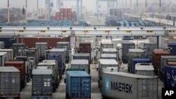 洛杉矶港口的集装箱