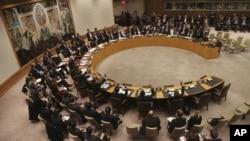 Hội đồng Bảo an LHQ biểu quyết lên án vụ phóng phi đạn của Bắc Triều Tiên hồi tháng 12 năm ngoái để đưa một vệ tinh thời tiết vào quỹ đạo. ((AP Photo/Mary Altaffer)