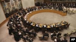 Các thành viên của Hội đồng Bảo an LHQ bỏ phiếu về dự thảo nghị quyết trừng phạt Bắc Triều Tiên.