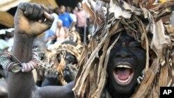 Un partisan du président sortant Laurent Gbagbo