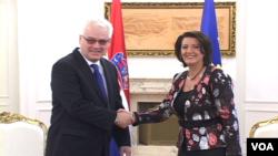 Atifete Jahjaga dhe Ivo Josipovic