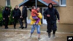 塞爾維亞出現水浸現象