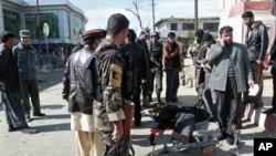 지난달 아프가니스탄 가즈니에서 발생한 폭탄 테러 현장. (자료사진)