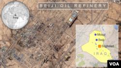 Peta satelit wilayah Beiji di Irak (Foto: dok).