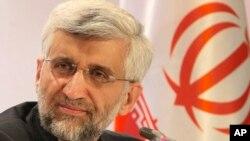 27일 카자흐스탄에서 기자회견에 참석한 사이드 잘릴리.이란 핵 협상 대표.