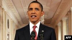 Барак Обама під час телезвернення до нації.