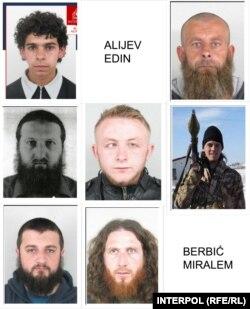 Osobe navodno uhapšene u Baguzu za kojima su raspisane INTERPOL-ove potjernice: Hamza Labidi, Edin Alijev, Amir Džinić, Edin Muftić, Alija Keserović, Jasmin Keserović, Salem Hasić, Senad Kasupović i Miralem Berbić.
