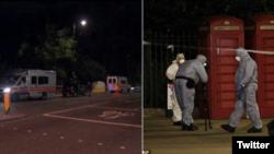 Hiện trường vụ tấn công bằng dao ở London.