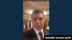 Владимир Зеленский зачитывает обращение, на котором настоял террорист, 21 июля 2020
