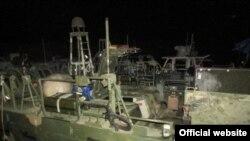 قایق های رزمی آمریکایی که توسط سپاه پاسداران توقیف شدند