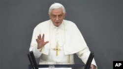 22일 독일을 방문한 로마 가톨릭 교황 베네딕토 16세