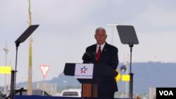 La visita del vicepresidente a Panamá se produce en medio de protestas de algunos ciudadanos que consideran la llegada de Mike Pence como 'imperialista '.