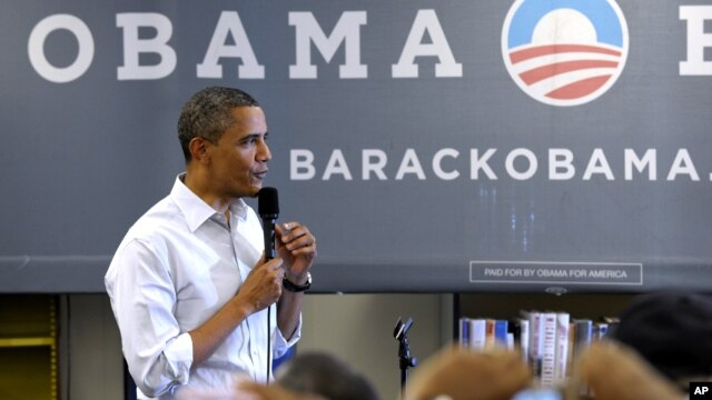 President Barack Obama speaks to an overflow crowd at a campaign event at Phoebus High School in Hampton, Va., July 13, 2012.