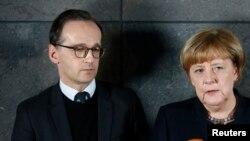 Almanya Dışişleri Bakanı Heiko Maas ve Başbakan Angela Merkel