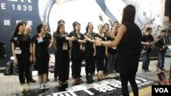 香港藝術團體「沒有製作」組織多隊「哀音隊」,今年計劃在全香港各區以歌聲傳承六四精神