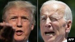 도널드 트럼프 미국 대통령(왼쪽)과 조 바이든 전 미국 부통령.