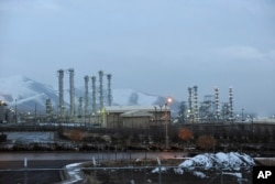 FILE - This Jan. 15, 2011, file photo shows the heavy water nuclear facility near Arak, Iran.