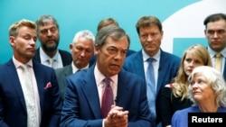 Kiongozi wa chama cha Brexit Nigel Farage.