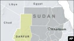 苏丹、南苏丹和达尔富尔的地理位置