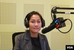 "Ms. Sok Sikieng, Technovation Ambassador in Cambodia and Lecturer of Information Technology at Royal University of Phnom Penh discusses ""Opportunities and Challenges for Cambodian Women in Tech"" on VOA Khmer's Hello VOA ""New Voices"", May 16, 2016."