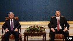Serj Sarkisyan və İlham Əliyev