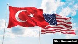 Türkiyə və ABŞ bayrağı