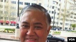Ketua Muhammadiyah Din Syamsuddin di Washington DC (13/4).