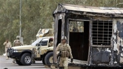 کمپ اشرف پس از حمله ارتش عراق. ۸ آوریل ۲۰۱۱