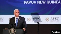 Вице-президент США Майк Пенс. Папуа – Новая Гвинея. 17 ноября 2018 г.