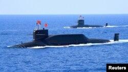 중국의 094A형 탄도미사일발사 핵추진 잠수함. (자료사진)