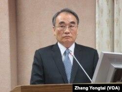 台湾国安局副局长王德麟 (美国之音张永泰拍摄)