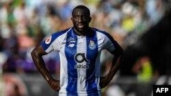 L'attaquant malien de Porto, Moussa Marega, lors du dernier match de football entre le Sporting CP et le FC Porto, dans la banlieue de Lisbonne, le 25 mai 2019.