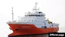 中國石油勘探船海洋地質八號。
