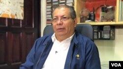 Miguel Ángel Casco, presidente de la Coordinadora Evangélica de Nicaragua, aliada del gobierno del presidente Daniel Ortega. Foto: Donaldo Hernández