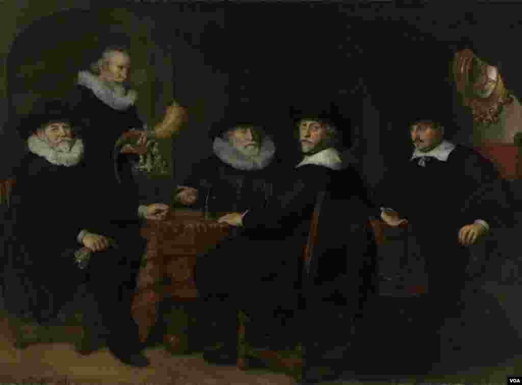 "Govert Flinck, ""Kloveniersdoelenin İdarəçiləri"" (1642)"