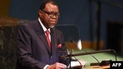 President Hage Geingobof Namibia