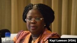 Victoire Tchamdja Kpatcha, à Lomé, au Togo, le 9 février 2017. (VOA/Kayi Lawson)
