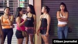 عکس آرشیوی از برخی مهاجران غیرقانونی که از کشورهای اطراف برای تن فروشی به تایلند آمده اند